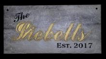 Ceramic Plaque - Family Name, Wedding, Business and more