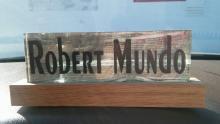 Desk Top Glass Name Plaque