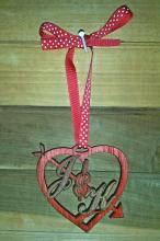 Monogrammed Wooden Heart Ornament