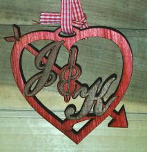 Personalized Wall Art - Initials in Heart