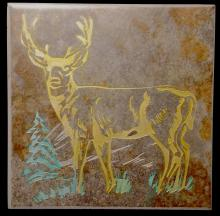 Ceramic Trivette - Deer, Colored